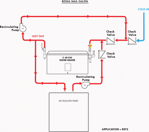 Application Diagrams For Commercial Industrial Water Heating