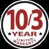 10/3-Year Limited Warranty