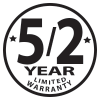 5/2-Year Limited Warranty