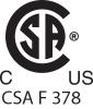 CSA F 378 Listed