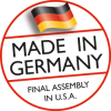 Made in Germany Final Assembly in U.S.A.