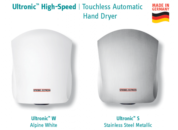 Available Ultronic Touchless Automatic Hand Dryer Finishes